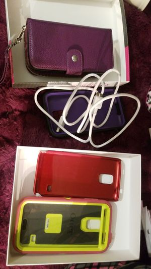 Samsung galaxy s5 cases and USB charger all free for Sale in Denver, CO