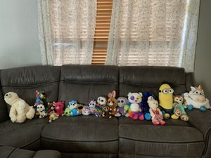 Build a bear,( some clothes too) beanie baby, assorted stuffed animals, Duffy( Disney) and a Disney suitcase. for Sale in Zephyrhills, FL
