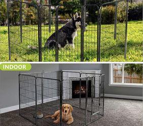 Nurxiovo Dog Pen, 8Panels 32 in Heavy Duty Folding Large Metal Dog Fence for Sale in La Mirada,  CA