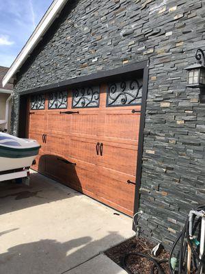 Garage doors repair broken springs replace cables rollers doors off track new garage doors openers replace doors jams text me for any question $7 for Sale in Anaheim, CA