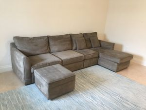 Sectional chase sofa bed sleeper for Sale in SUNNY ISL BCH, FL