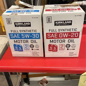 Full Synthetic Motor Oil - SAE 5-W - 30 & 20 - 2 Pack for Sale in Tempe, AZ