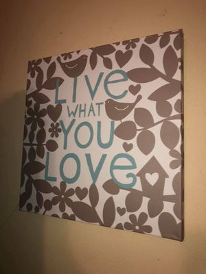 Love you always canvas wall decor sign for Sale in Needville, TX