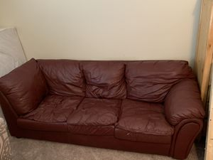 Leather Couch, Over Stuffed for Sale in Hendersonville, TN