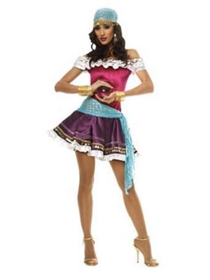 Brand New Women's Large Fortune Teller Dress & 2 Scarves Complete Halloween Costume for Sale in Bremerton, WA