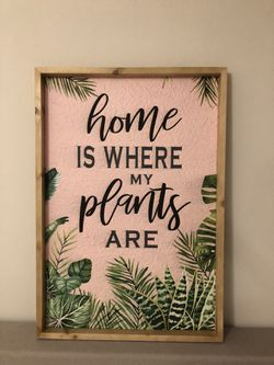 Tropical Home is Where Plants Are Sign for Sale in Ashburn,  VA