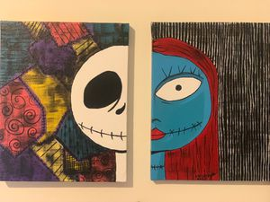 Sally and jack original acrylic paint $60 for Sale in Cumberland, RI