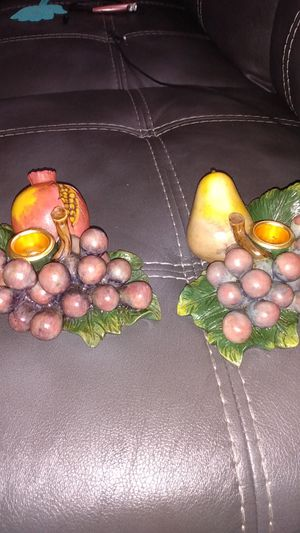 Fruit candle holders for Sale in Greenville, NC