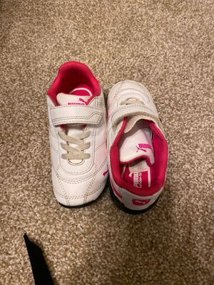 Pink and White Puma 9C Toddler Tennis Shoes for Sale in Flower Mound, TX