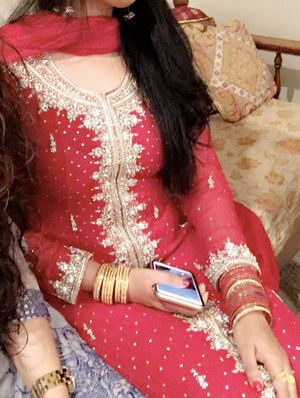 Red pakistani heavy dress for Sale in Levittown, NY