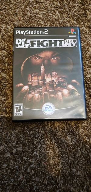 PS2 Dej Jam Fight For NY for Sale in North Las Vegas, NV