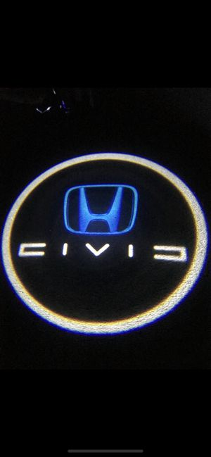 Civic car door projector lights shadow lights auto on/off aaa batteries for Sale in Paramount, CA