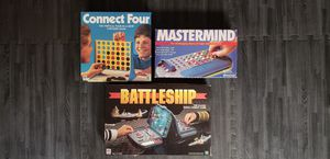3 Old board games - Connect Four, Battleship, Mastermind for Sale in Los Angeles, CA