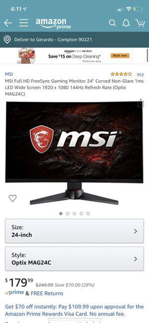 MSI Optix MAG24C for Sale in Compton, CA