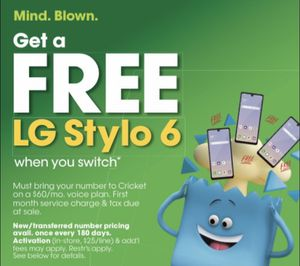 FREE LG STYLO 6 for Sale in Fallbrook, CA