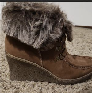 Hit Kiss Lace up Suede wedge ankle boots for Sale in Hillsborough, NC