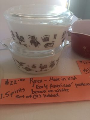 """Pair of PYREX—""""Early American"""" pattern dishes for Sale in Burleson, TX"""