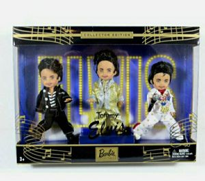Tommy As Elvis Doll Collector Edition 3 Set Trio Mattel Barbie New In Box for Sale in Palatine, IL