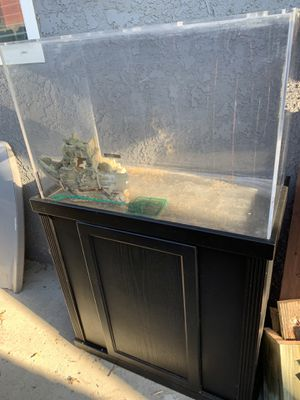 60 gallon acrylic tank w/stand/ Fluval filter and more for Sale in Anaheim, CA