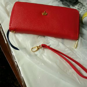 Red wristlet wallet for Sale in Severn, MD