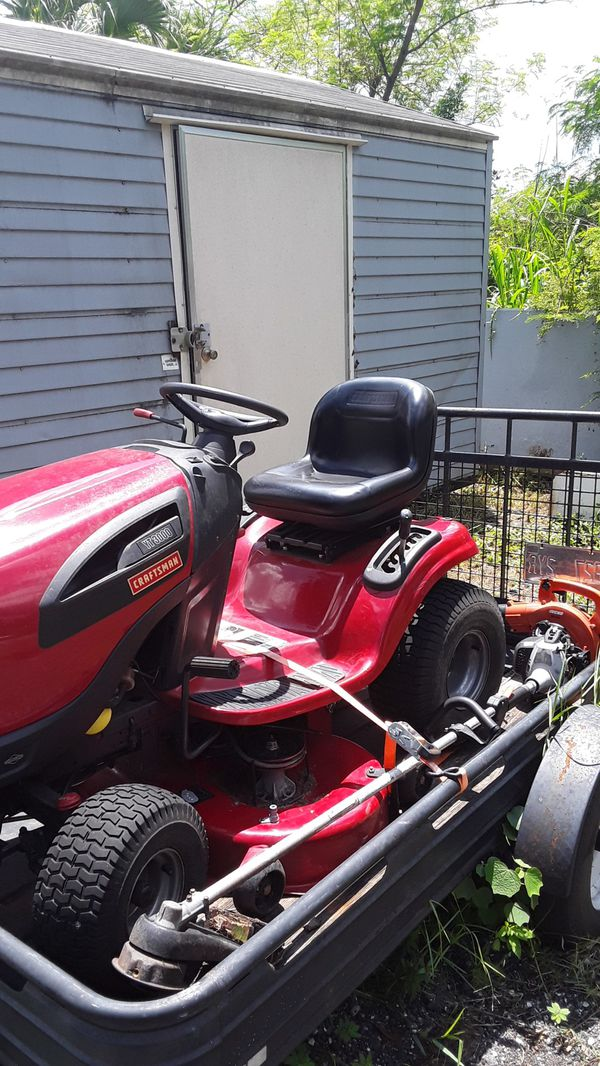 Craftmans Riding Mower Weed Eater Blower Shovel Rack Hoe Broom For Sale In Tampa Fl Offerup