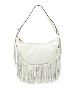 Gorgeous Designer White Leather Fringe tote for Sale in Wheaton, IL
