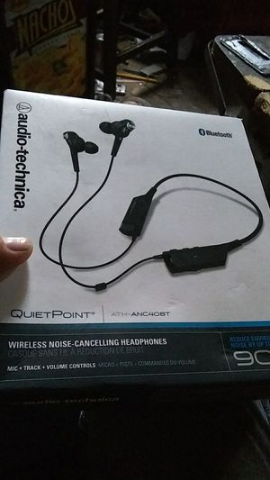 Audio -Technica quiet point blue tooth earbuds for Sale in Dallas, TX