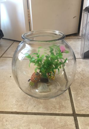 1 gallon glass fish tank bowel for Sale in Escondido, CA