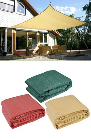 (NEW) $55 each 18x18' Square Sun Shade Sail Outdoor Top Cover (Tan, Red or Green) for Sale in South El Monte, CA