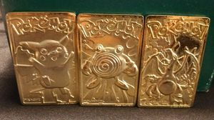 3 gold-plated Pokemon for Sale in Jonesboro, GA