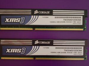 Corsair XMS3 DDR3 1333MHz 4GB (2X2GB) for Sale in Trenton, NJ