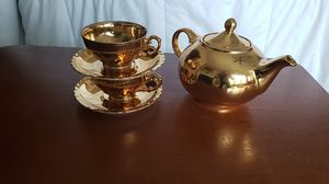 Hall China Vintage Golden Glo 22 Carat - Teapot for Sale in Buford, GA