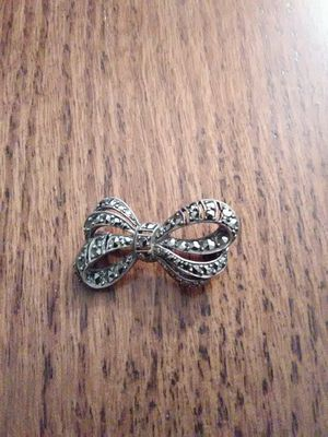 VINTAGE SILVER PIN WITH MARCASITE ACCENTS for Sale in Golden, CO