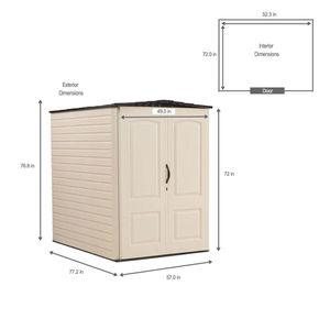Rubbermaid Large Vertical Resin Storage Shed for Sale in Cerritos, CA