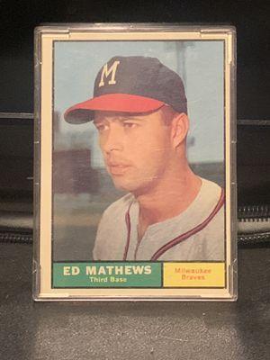 1961 Eddie Mathews Topps Baseball Card for Sale in Peoria, AZ