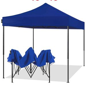 10x10 Pop Up Canopy Tent Portable Instant Adjustable Easy Up Tent Outdoor Market Canopy Shelter (10'x10' Black Frame, Blue) for Sale in Ontario, CA