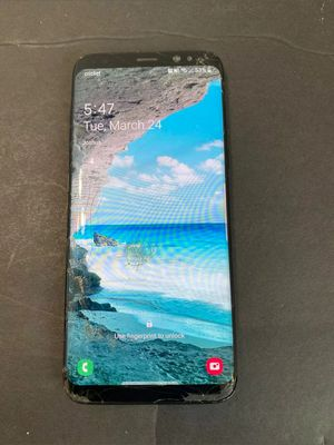 Galaxy s8 (unlocked) cracked for Sale in Garner, NC
