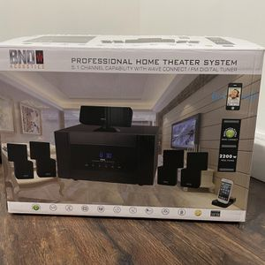 VPL PROJECTOR AND PROFESSIONAL HOME THEATER SYSTEM + PROJECTOR SCREEN for Sale in Cliffside Park, NJ