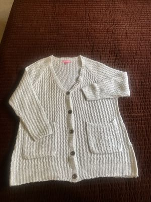 Ash gray silver sparkly V-neck cardigan for Sale in Irwindale, CA