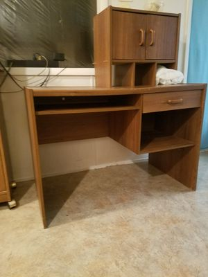 Computer table / storage / cabinet plus printer table for Sale in Williamsport, PA