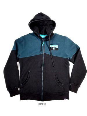 YETI Men's Size M Hoodie Jacket Sweater Full Zip Black & Turquoise Logo :B for Sale in Denver, CO