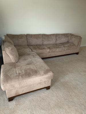 Microfiber Sectional (AS IS) for Sale in Chesapeake, VA