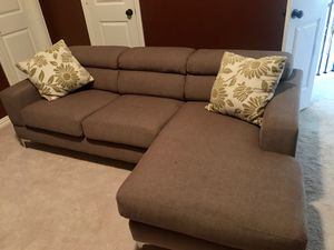 Sectional couch with adjustable headrests for Sale in Lewisville, TX