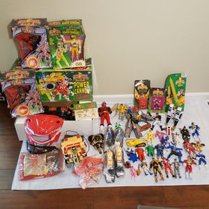 Mighty Morphin Power Rangers Action Figure Toys - Big Lot - 1990s Vintage / Retro for Sale in Riverview, FL