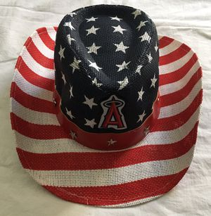 LA Angels of Anaheim baseball US USA flag patriotic cowboy hat - NEW for Sale in Tustin, CA
