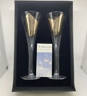 Tony Davlin 24k Gold Champagne Flutes for Sale in Queens, NY