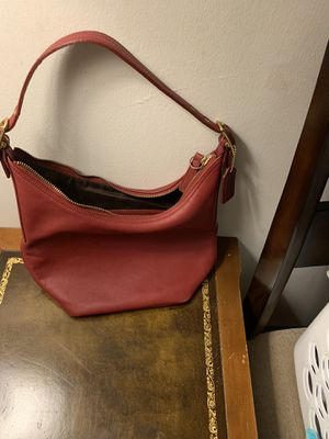 Red Authentic Coach Bag for Sale in Little Ferry, NJ
