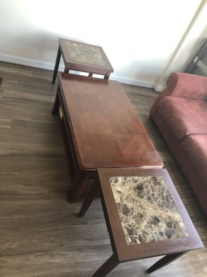 Coffee table with 2 end tables for Sale in Arlington, VA