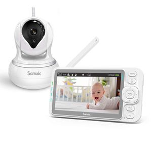 New Samxic Video Baby Monitor with 720P Camera, 5 Inches Display, Crying & Temperature Alert, Two-Way Talk, No Glow Night Vision, Remote Pan & Tilt & for Sale in Orlando, FL