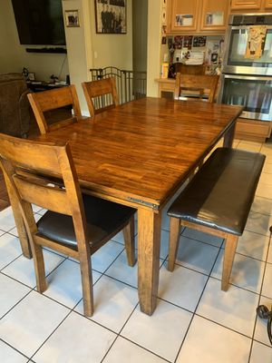 Kitchen table with bench and 4 chairs for Sale in Winchester, CA